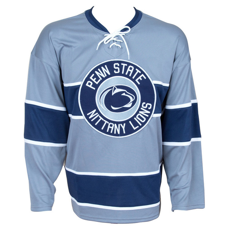 Penn State Hockey Jersey Gray Nittany Lions (PSU)