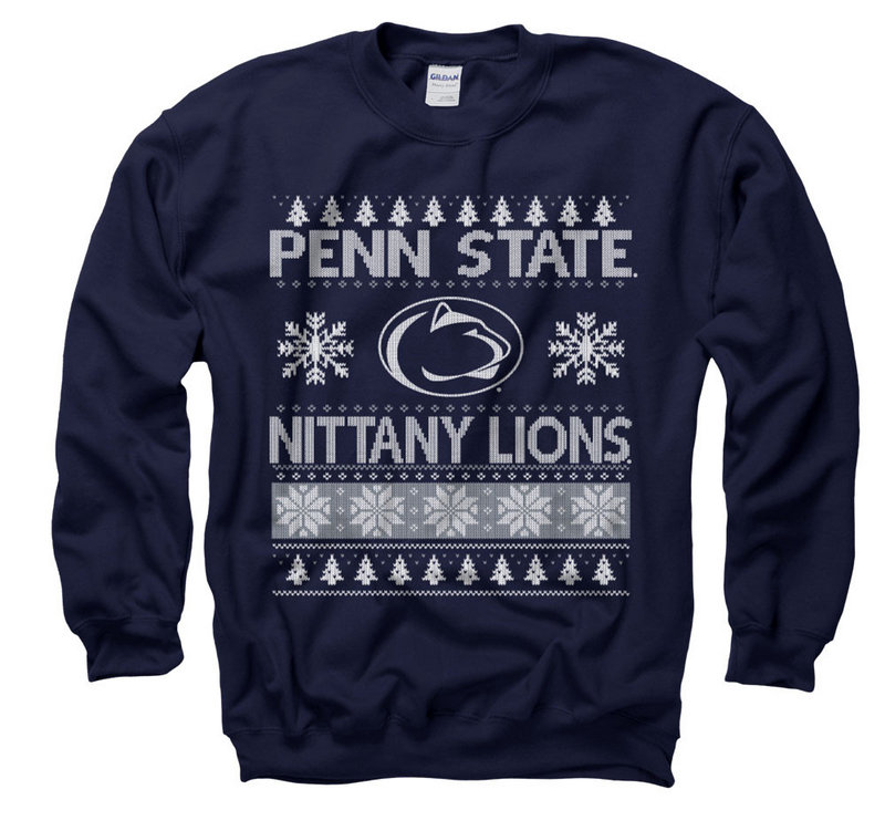 Penn State Holiday Crewneck Sweatshirt Navy Nittany Lions (PSU)
