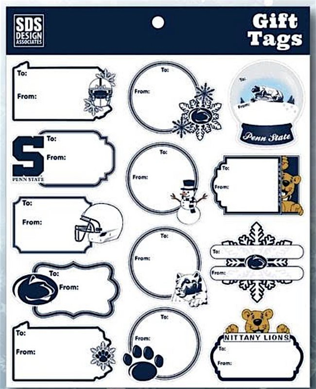 Penn State Holiday Gift Tag Stickers Nittany Lions (PSU)