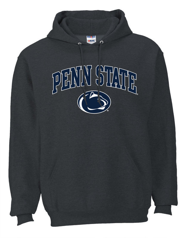 Penn State Hooded Sweatshirt Arching Over Charcoal Nittany Lions (PSU)