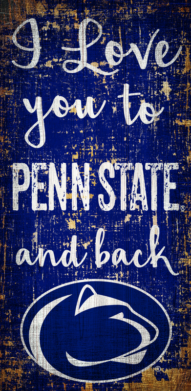Penn State I love you to Wood Sign Nittany Lions (PSU)