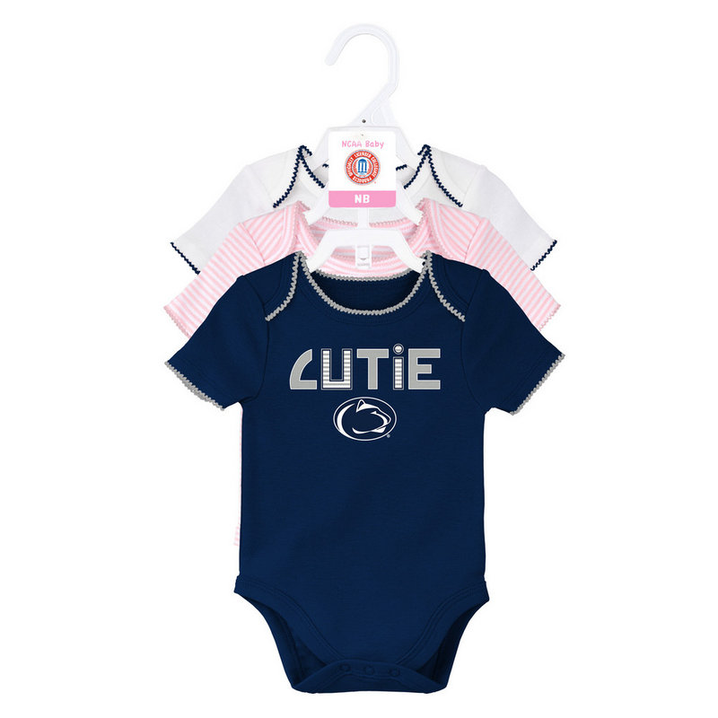 Penn State Infant 3-Pack Creeper Set Nittany Lions (PSU)