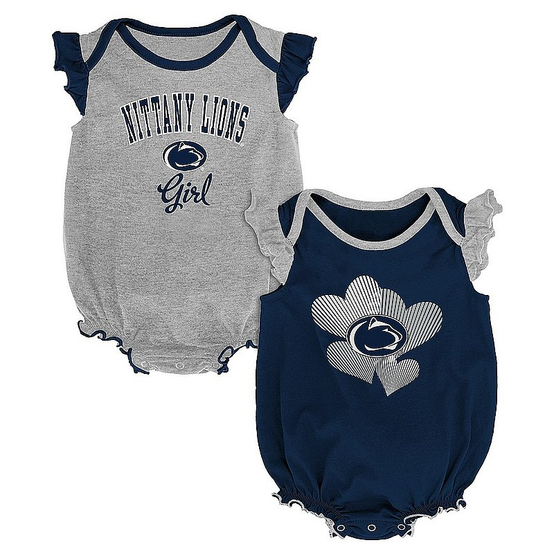 Penn State Infant Girls Celebration Onesie 2-Pack Nittany Lions (PSU)