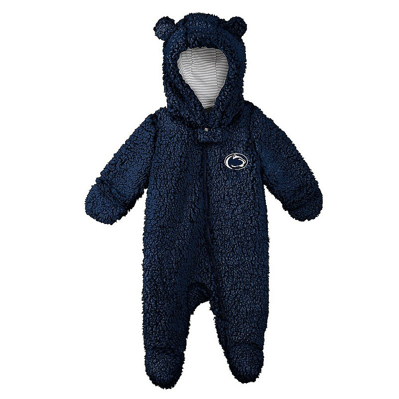 Penn State Infant Nittany Lion Sherpa Fleece Bunting Navy