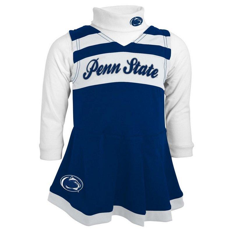Penn State Infant Toddler Cheerleader Dress Nittany Lions (PSU) 44TVI_62_PENN STATE_F