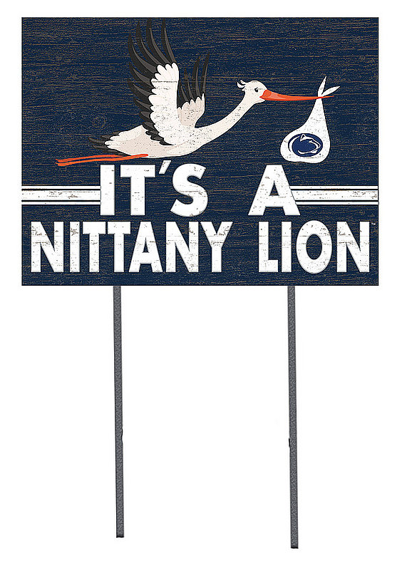 Penn State It's a Nittany Lion Baby Announcement Lawn Sign