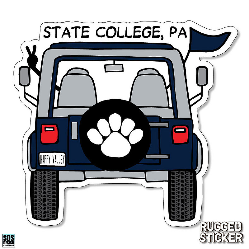 Penn State Jeep Rugged Sticker Nittany Lions (PSU)