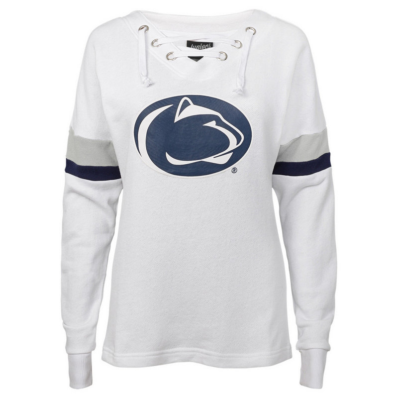 Penn State Junior's White Retro Game Lace-Up Varsity Crew Nittany Lions (PSU)