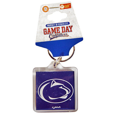 Penn State Key Chain Navy Lion Head Square Nittany Lions (PSU)