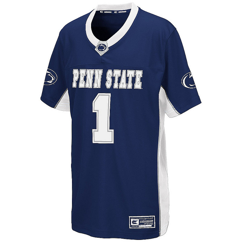 Penn State Kids #1 Navy Football Jersey