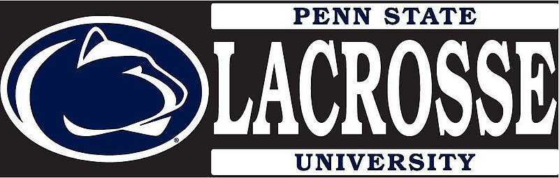 """Penn State Lacrosse Decal - 6"""" x 2"""" Nittany Lions (PSU)"""