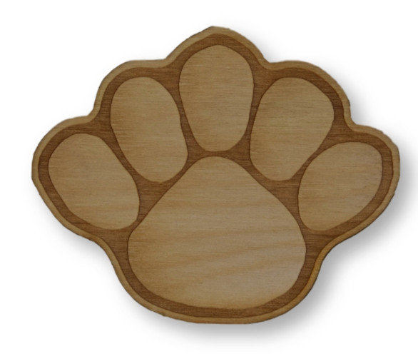 Penn State Large Wood Paw Magnet Nittany Lions (PSU)