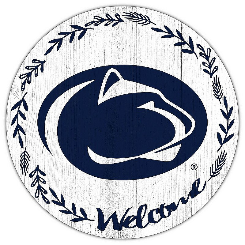 Penn State Laurel Welcome Circle Sign Nittany Lions (PSU)
