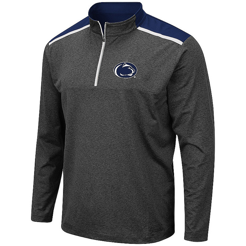 Penn State Light Weight Heather Charcoal Quarter Zip Nittany Lions (PSU)