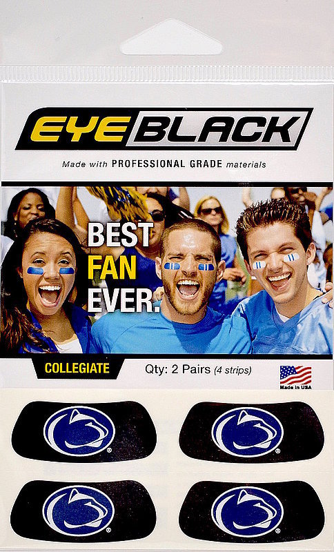 Penn State Lion Head Eye Black Face Stickers Nittany Lions (PSU)