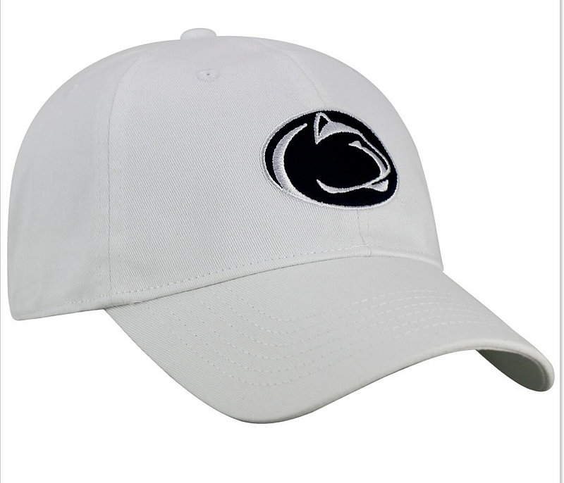 Penn State Lion Head Fitted Hat White Nittany Lions (PSU)