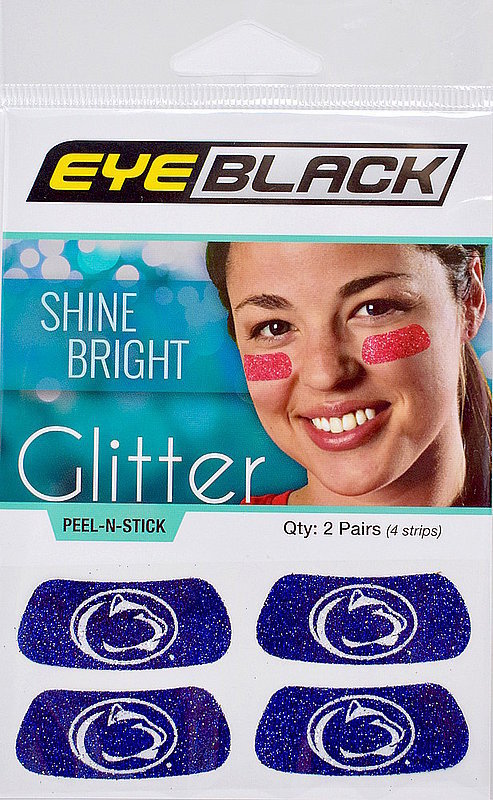 Penn State Lion Head Glitter Eye Black Face Stickers Nittany Lions (PSU)