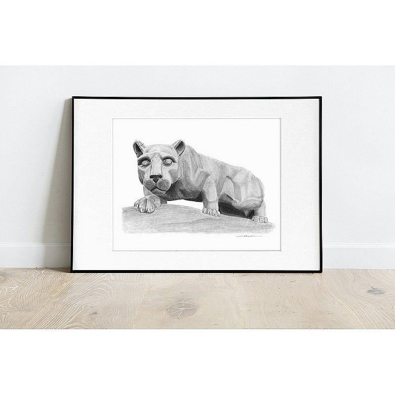 "Penn State Lion Shrine Fine Art Print 8""x10"" Matted Nittany Lions (PSU)"