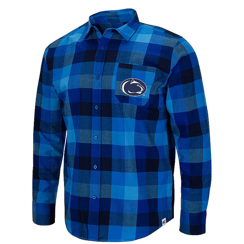 Penn State Mens Flannel Button Up Nittany Lions (PSU)