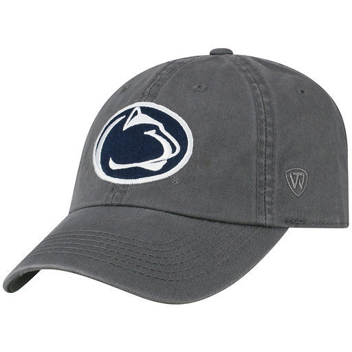 Penn State Mens Relaxed Fit Adjustable Hat Charcoal Nittany Lions (PSU)