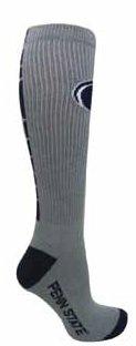 Penn State Mens Socks Elite Gray With Navy Nittany Lions (PSU) 0689PESUPA02144410