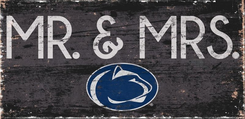Penn State Mr & Mrs Wood Sign Nittany Lions (PSU)
