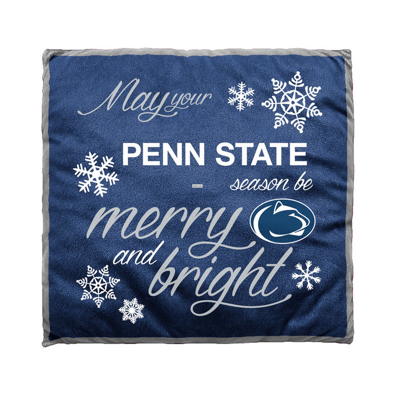 Penn State Navy Holiday Cheer Pillow Nittany Lions (PSU)