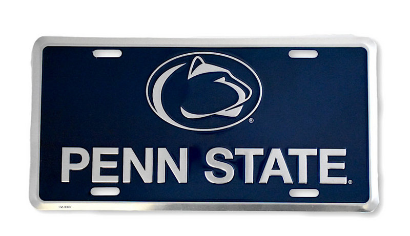 Penn State Navy Metal License Plate Nittany Lions (PSU)