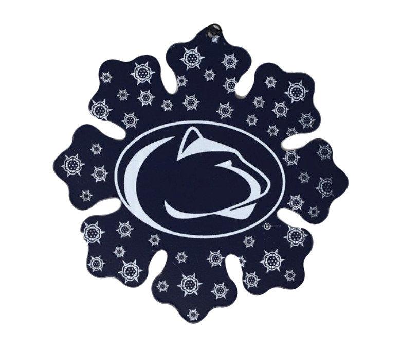 Penn State Navy Metal Snowflake Ornament Nittany Lions (PSU)