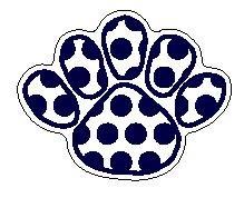 Penn State Navy & White Polka Dot 5 Toed Paw Magnet