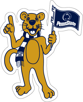 Penn State Nittany Lion Mascot Car Magnet - 8 inches Nittany Lions (PSU) PSU039