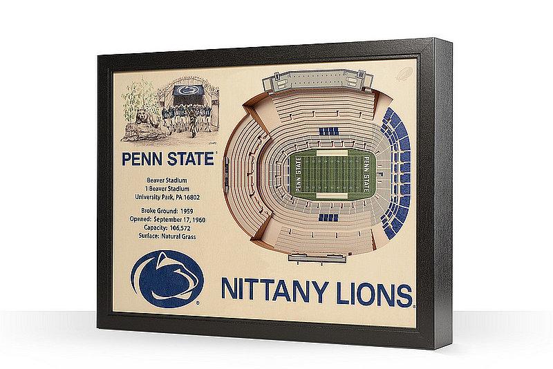 Penn State Nittany Lions Beaver Stadium 25-Layer StadiumViews 3D Wall Art Nittany Lions (PSU)