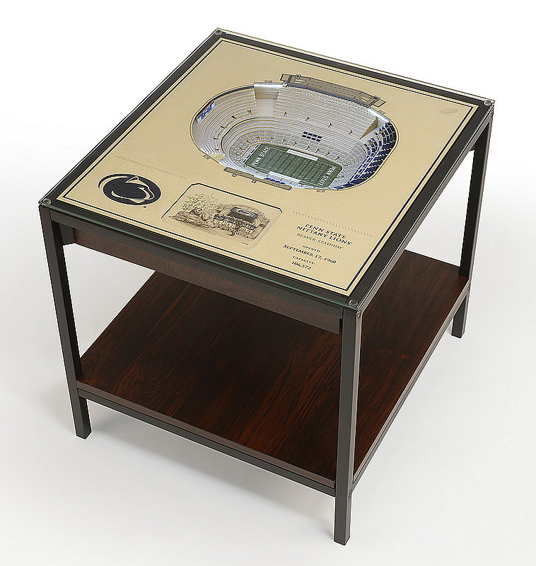 Penn State Nittany Lions Beaver Stadium 25-Layer StadiumViews Lighted End Table