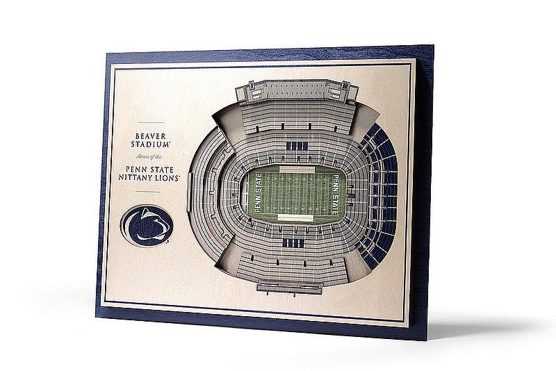 Penn State Nittany Lions Beaver Stadium 5-Layer StadiumViews 3D Wall Art Nittany Lions (PSU)