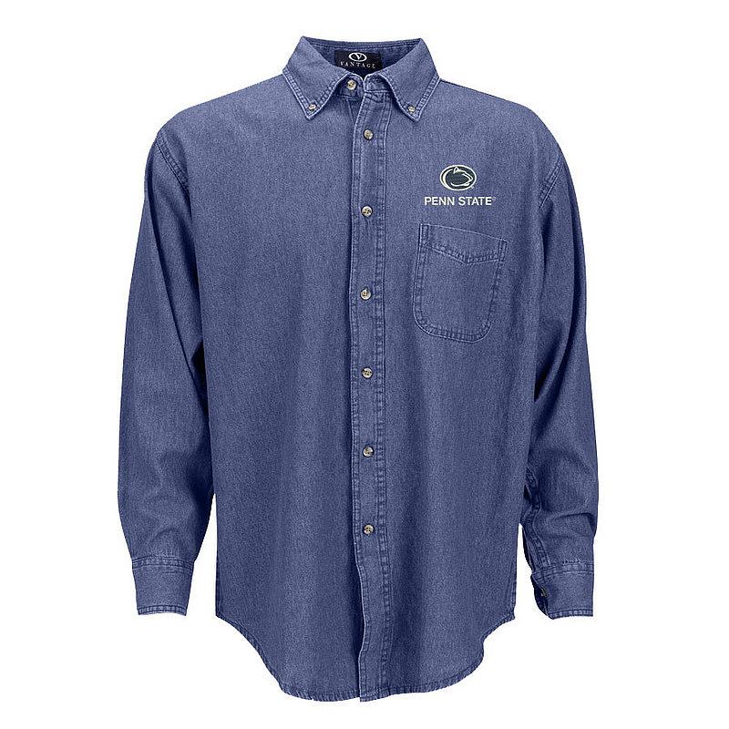 Penn State Nittany Lions Button Down Denim Shirt