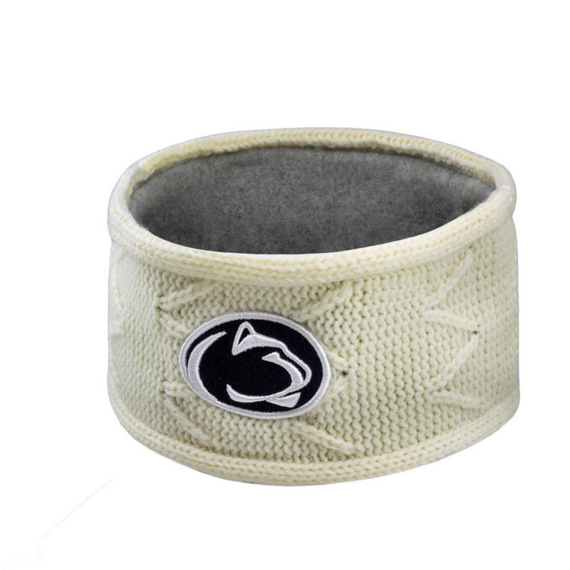 Penn State Nittany Lions Cable Knit Winter Head Band White