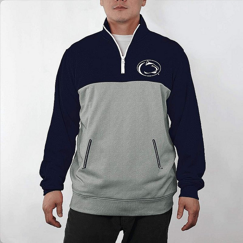 Penn State Nittany Lions Colorblock 1/4 Zip Poly Fleece Pullover Nittany Lions (PSU) PST9P667NVY