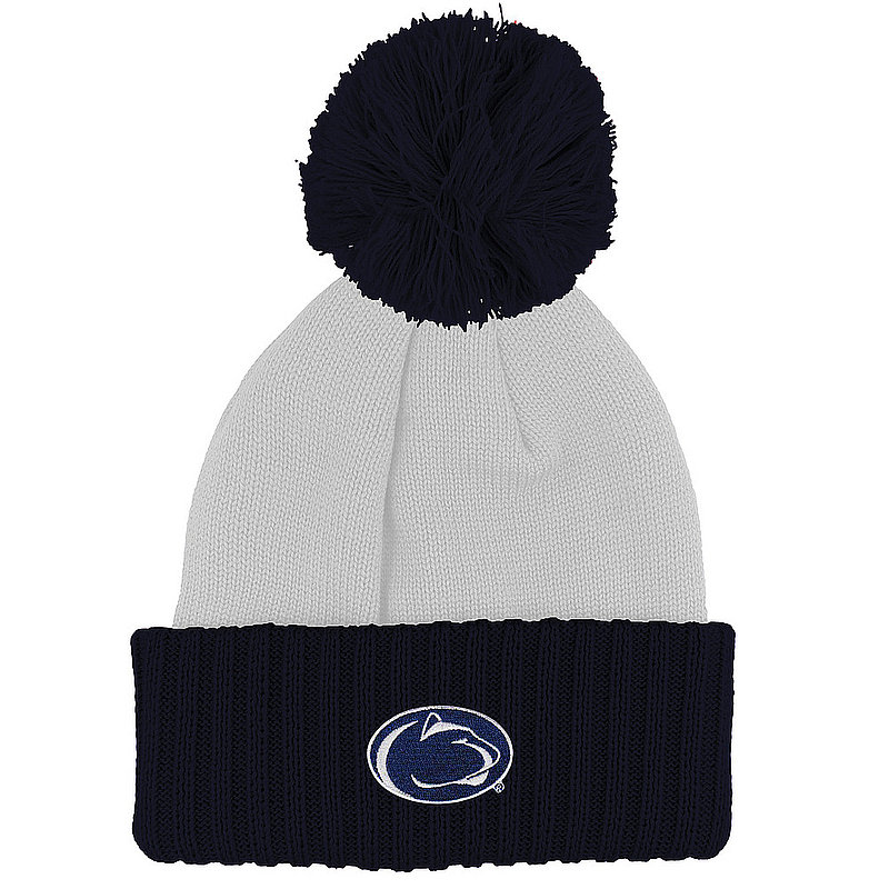 Penn State Nittany Lions Colorblock Knit Pom Beanie Nittany Lions (PSU)