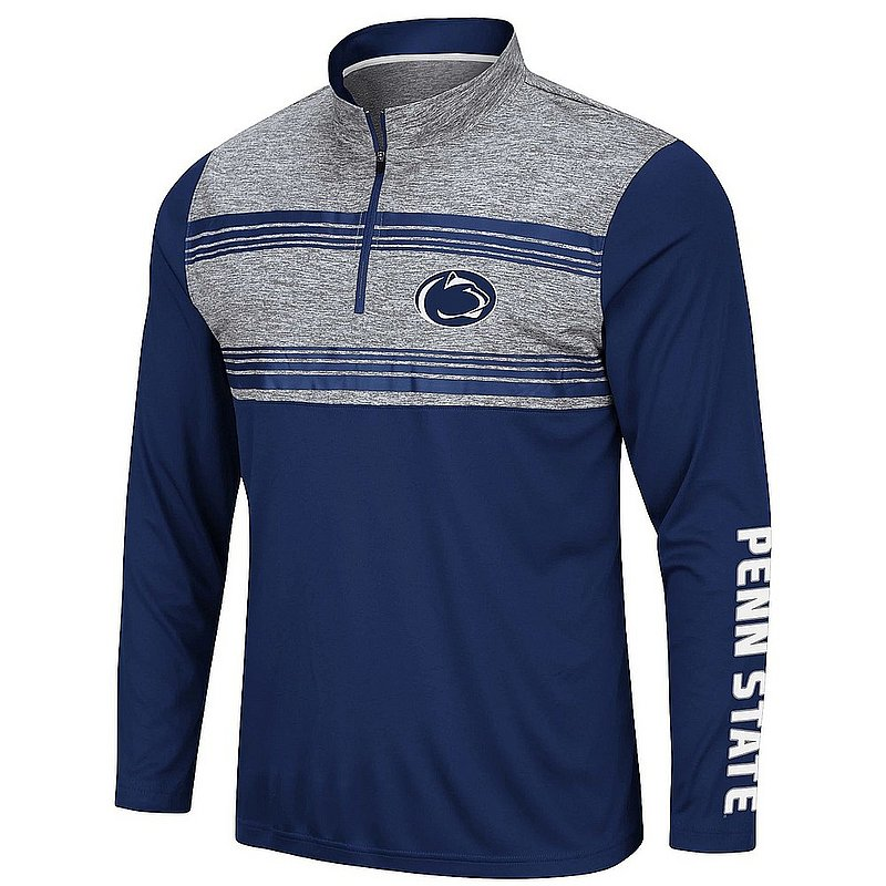 Penn State Nittany Lions Colorblock Striped Performance Quarter Zip Nittany Lions (PSU)
