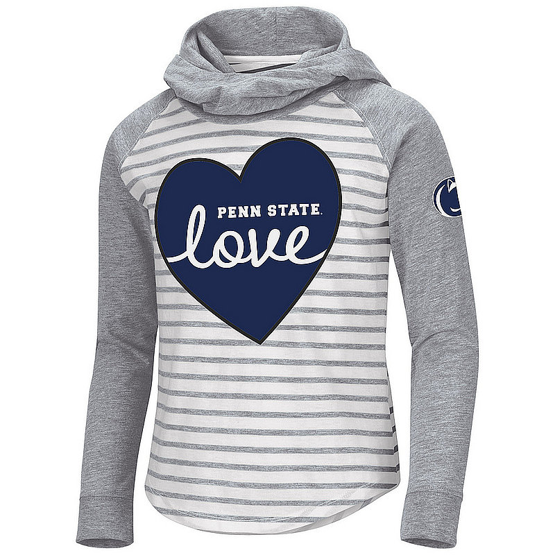 Penn State Nittany Lions Girls Striped Hooded Long Sleeve Nittany Lions (PSU)