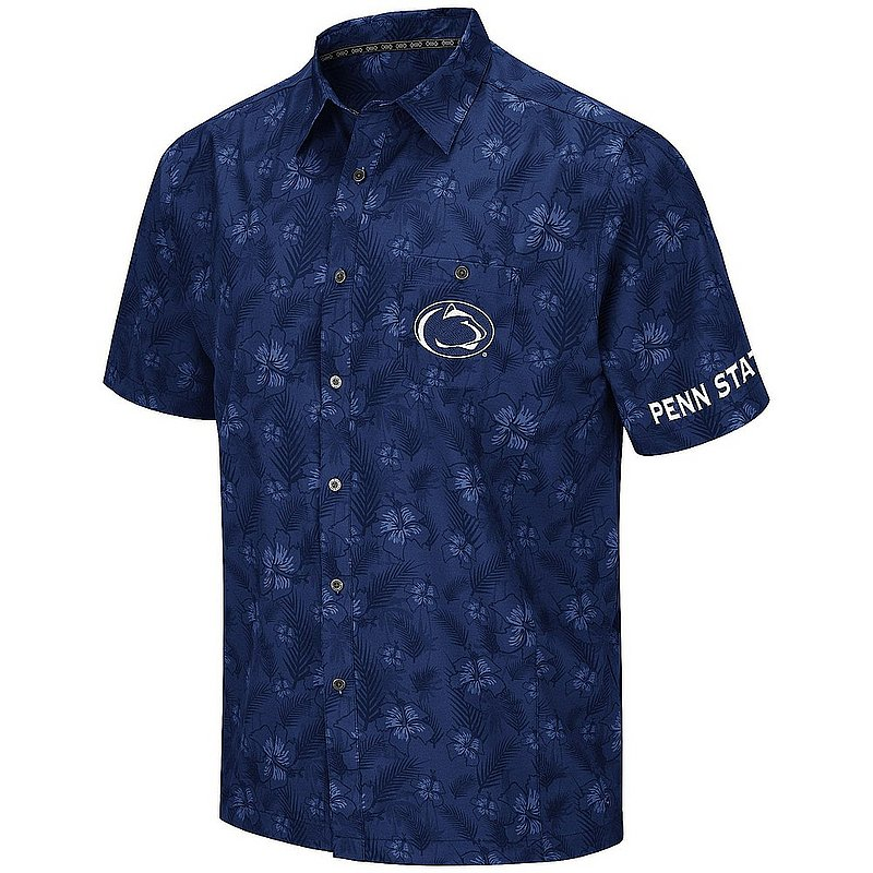 Penn State Nittany Lions Hawaiian Camp Button-Up Shirt