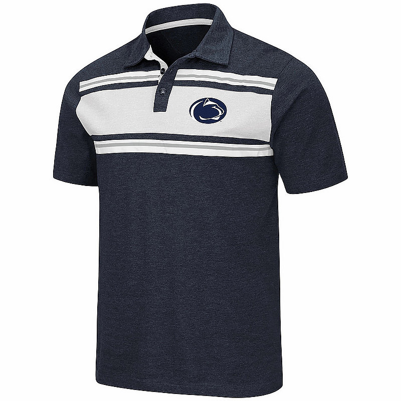 Penn State Nittany Lions Heather Navy Cotton Polo