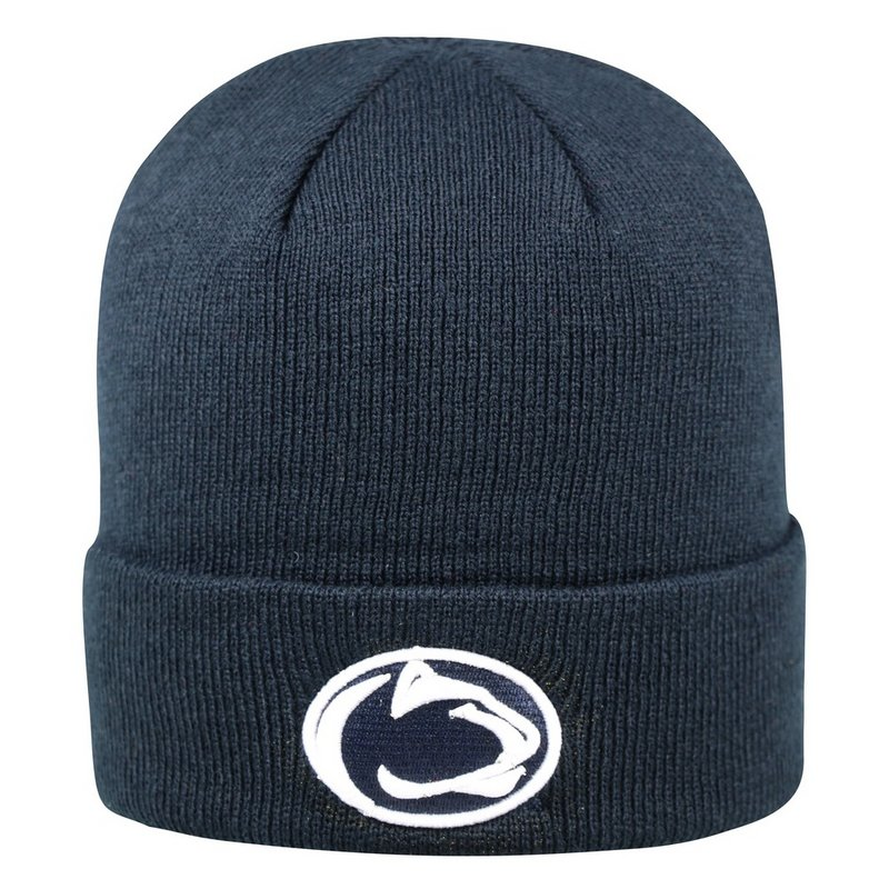 Penn State Nittany Lions Knit Hat Cuffed Navy Nittany Lions (PSU)