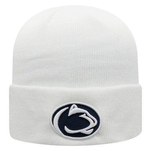 Penn State Nittany Lions Knit Hat Cuffed White Nittany Lions (PSU)