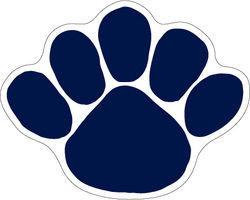 Penn State Nittany Lions Paw Car Magnet Medium Nittany Lions (PSU)