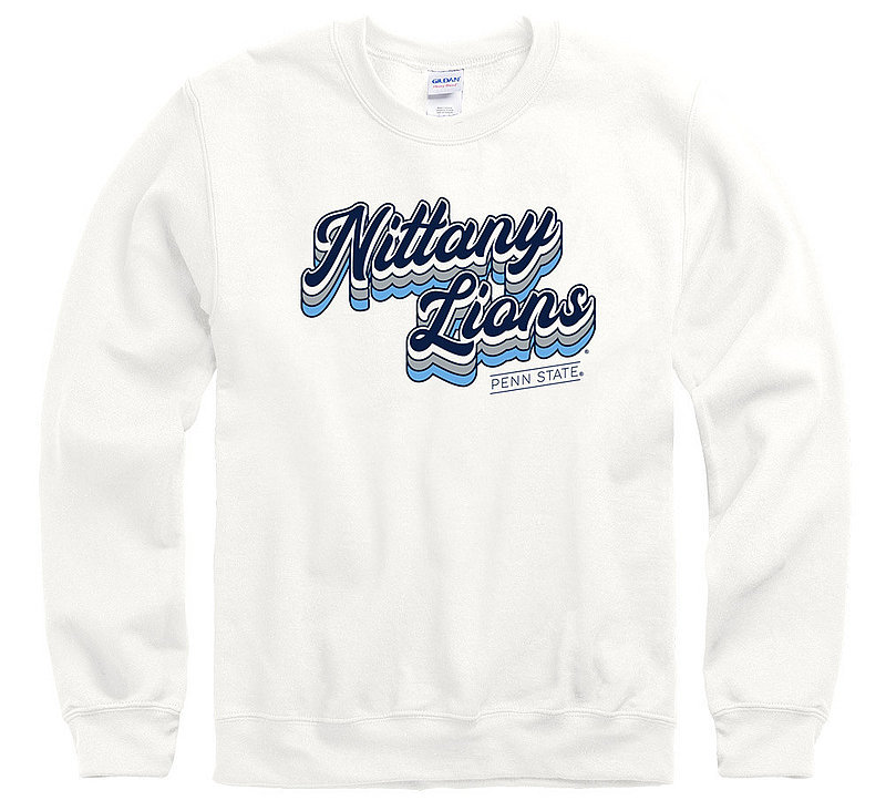 Penn State Nittany Lions Script Crewneck Sweatshirt White Nittany Lions (PSU)