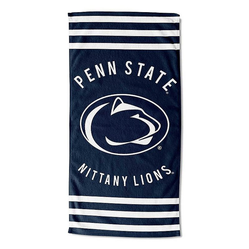Penn State Nittany Lions Striped Beach Towel Nittany Lions (PSU)