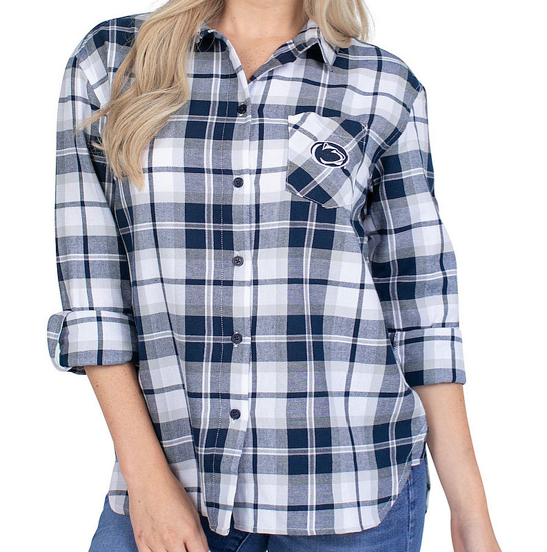 Penn State Nittany Lions Women's Boyfriend Plaid Flannel Nittany Lions (PSU)