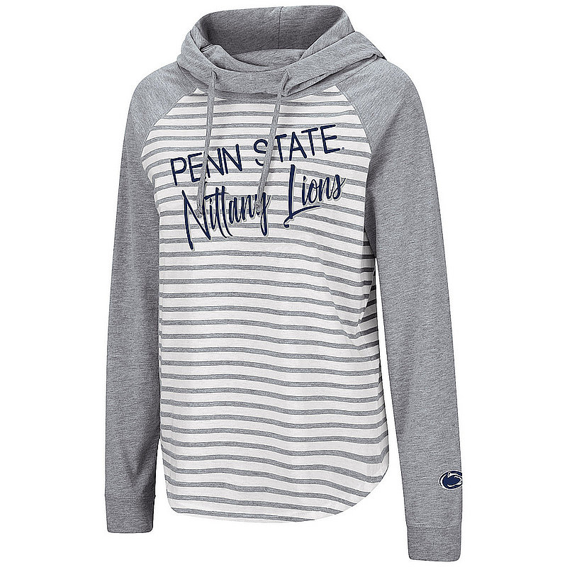 Penn State Nittany Lions Women's Striped Hooded Long Sleeve Nittany Lions (PSU)
