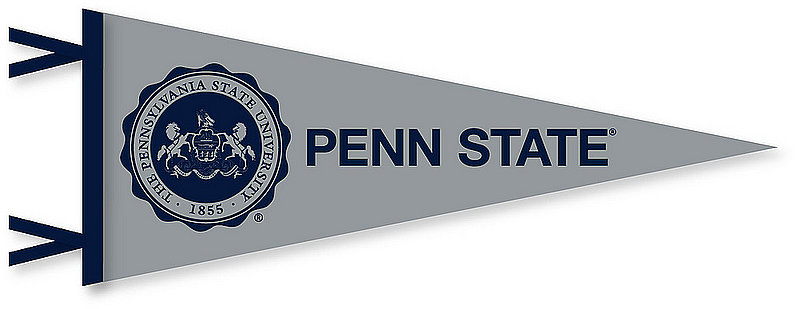 Penn State Official Seal Pennant Grey 6 x 15 Nittany Lions (PSU)